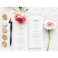 メニュー表|edge  paper|natural & garden 10枚1セット