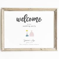 ウェルカムボード‖bride & groom A3 フレーム付