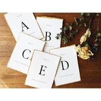 テーブルナンバー|セリフ体|edge paper|silver/gold card 14枚セット