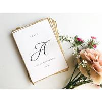 テーブルナンバー|edge paper|silver/gold card 14枚セット
