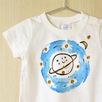 手描きTシャツ(キッズ)名入れ可  〈宇宙〉