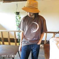 三日月ギターTシャツ (ブラウン)