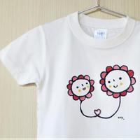 手描きTシャツ(こども)名入れ可   〈お花〉