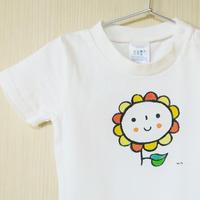手描きTシャツ(こども)名入れ可   〈ひまわり〉