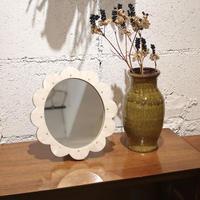 Bone mirror  - flower-