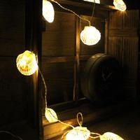 shell LED light ガーランド