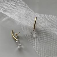 PORTE BONHEUR  - Water drop  pierce-