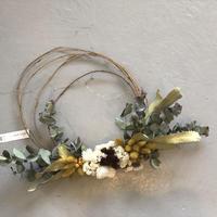 wreathe :  mustard