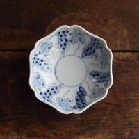 antiques   九谷 染付 4.2寸鉢