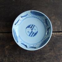 antiques  幕末 伊万里 染付 4.5寸皿