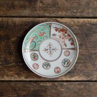 antiques  明治 色絵 金彩 丸文とクルスの小皿