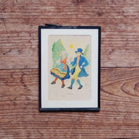 antiques  手をつなぐ男女の絵②