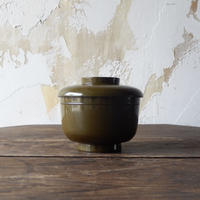 antiques 輪島塗 蓋付椀(緑)