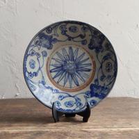 antiques  安南焼 染付 4.6寸皿 one
