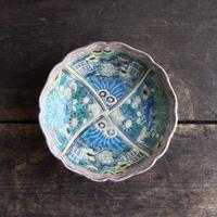 antiques 江戸時代 成化年製 伊万里 青手 花文の 4.7寸皿