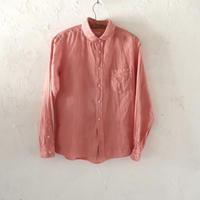 takuroh shirafuji Lithuania Linen Pink basic shirt