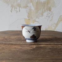 antiques  印判  鶴の蕎麦猪口