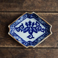 antiques  明治 伊万里 印判 菱形皿