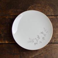 antiques ノリタケ  白い花のプレート(小)
