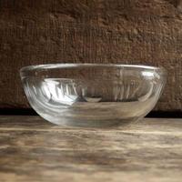 antiques  吹きガラスの小鉢 (切子模様)