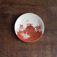 antiques  赤絵 金彩 九谷の5寸皿