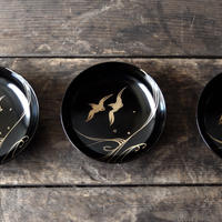 antiques 輪島塗 鳥の豆皿