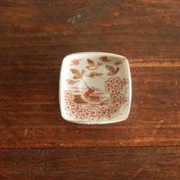 antiques  赤絵 金彩 九谷の豆皿