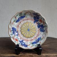 antiques  古伊万里 花文 4.8寸皿