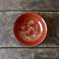 antiques 輪島塗 沈金  小皿  four