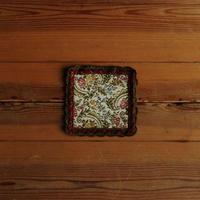 antiques 花柄のミニタペストリー(赤)  ①