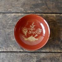 antiques 輪島塗 沈金  小皿  three