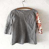 takuroh shirafuji Lithuania Linen Half Sleeve Tops(Boro) two