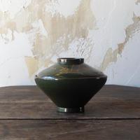 antiques 漆器 蓋付椀(緑)