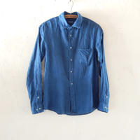 takuroh shirafuji Lithuania Linen Indigo basic shirt