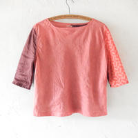 takuroh shirafuji Lithuania Linen Half Sleeve Pink Tops(Boro) two