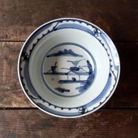 antiques 染付  6寸鉢