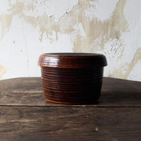 antiques 山中漆器 KUUKI  Coverd Bowl
