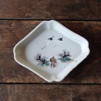 antiques 絵付 菱形 小皿