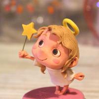 樹脂粘土人形/星タクト天使(台ピンク)