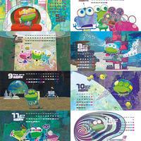 【ダウンロード販売】令和元年 アトリエサンゴ カレンダー 8pieces/モニター用