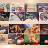 令和元年(2019年5~12月)カレンダー + ケロポストカード8枚(ケースなし)