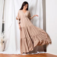 【Sea of Rose】Maxi Dress - Beige
