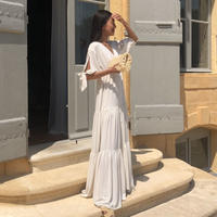 【Sea of Rose】Maxi Dress - White
