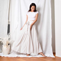 Silky Wrap Skirt - White