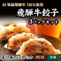 飛騨牛餃子3パックセット A5等級飛騨牛100%使用 (12個入り×3パック)
