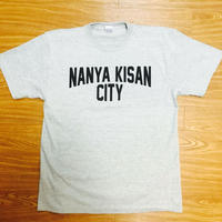 【受注製作商品】atleta nanyakisancity T-shirt ナンヤキサンシティTシャツ ミックスグレー (プリントブラック)