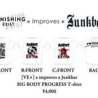 [VE+] x improves x Junkbar BIG BODY PROGRESS Tシャツ