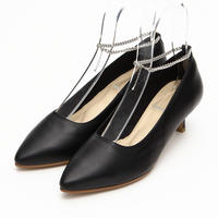 Pearl Ankle Chain Black