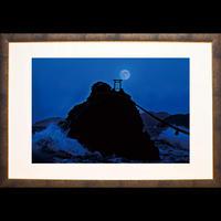 二見ヶ浦夫婦岩と満月(LLサイズ)