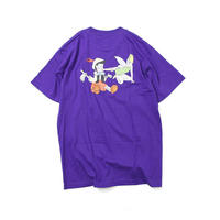 SAINTS & SINNERS LOGO TEE (PURPLE, BLACK, WHITE)